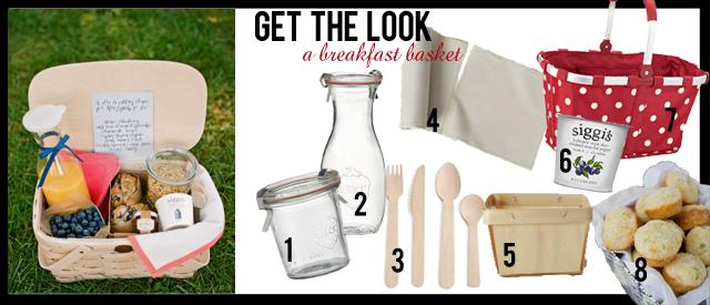 get the look a breakfast basket roar events