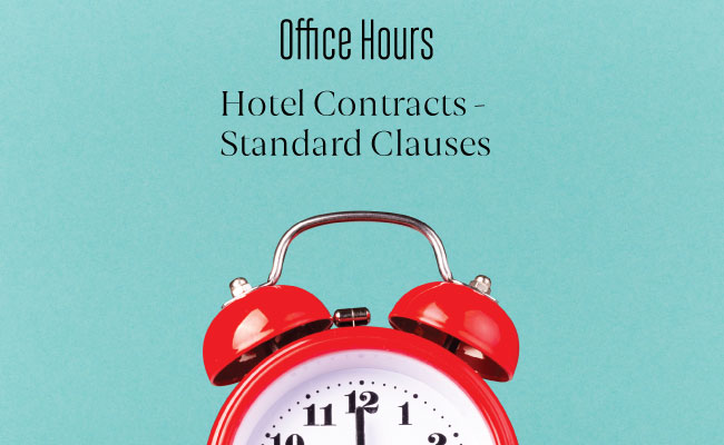 Hotel Clauses for contracts for Corporate Events