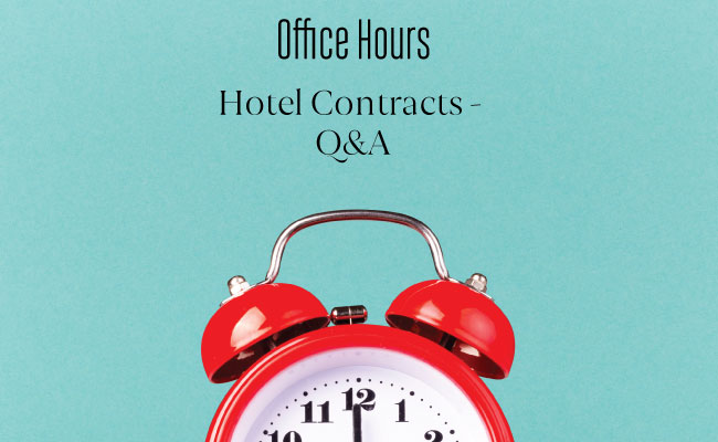 Hotel Contracts Q&A for Corporate Event Planners