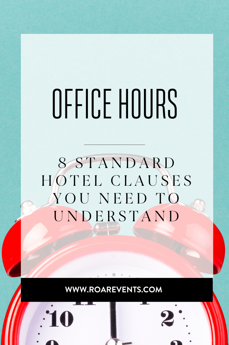 8 Standard Hotel Clauses You need to understand